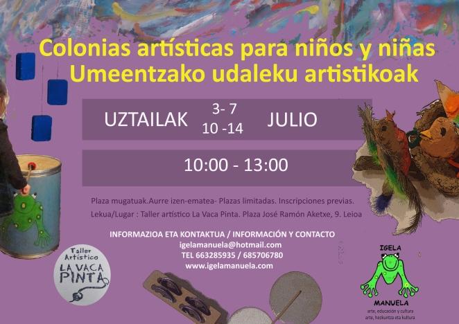 Udaleku artistikoak-Colonias artísticas 2017 Igela manuela